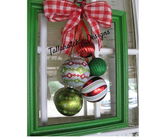Christmas Door Frame Decorations: Christmas Wreath From 10x13 Picture Frame By