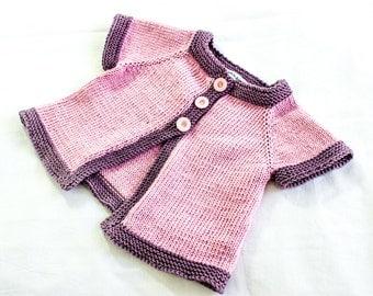 KNITTING PATTERN, , Baby Jacket  Knitting Pattern, French Fashion Inspired  Baby Pattern, PDF