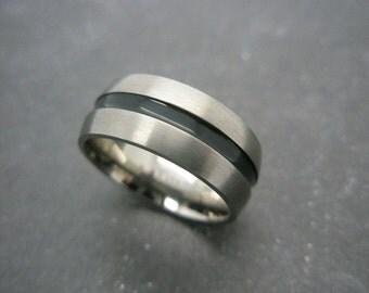Titanium ring 8 mm