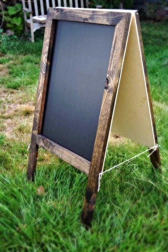 Rustic a frame sandwich chalkboard by