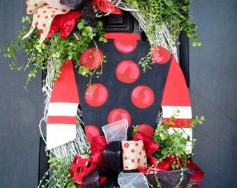 Jockey silk Kentucky derby wreath
