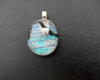 Transparent dichroic beautiful shining glass pendant