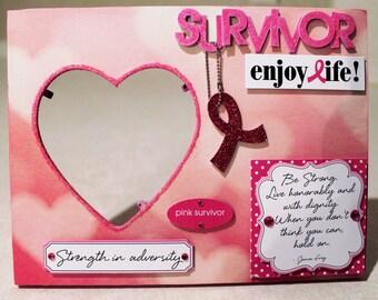 Survivor/Breast Cancer/ Pink ribbon/Cancer Awareness/Picture Frame