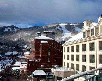 "Winter Photography, Ski Resort, Snowy Mountain, Beaver Creek, Colorado, Art Print - ""Lauralee Lola"""