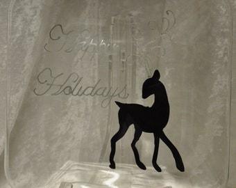 """10"""" Plate, Elegant Reindeer"""