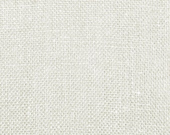 """60"""" Inch White Color Burlap - By The Yard"""