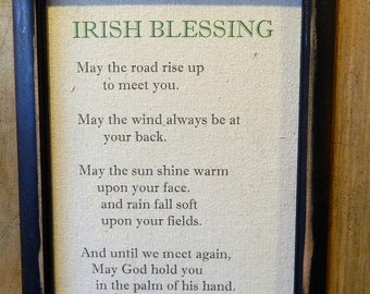Irish Blessing Print Love Quote Printable Green Home Decor