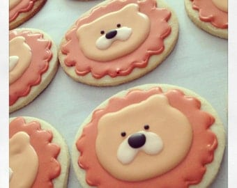 Iced Lion Cookies - 1 Dozen