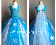 Elsa inspired glitter tutu dress and FREE hairpiece size nb to 12 years