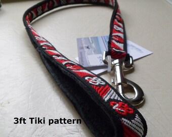 Handmade dog leash with Maori pattern  made in New Zealand.