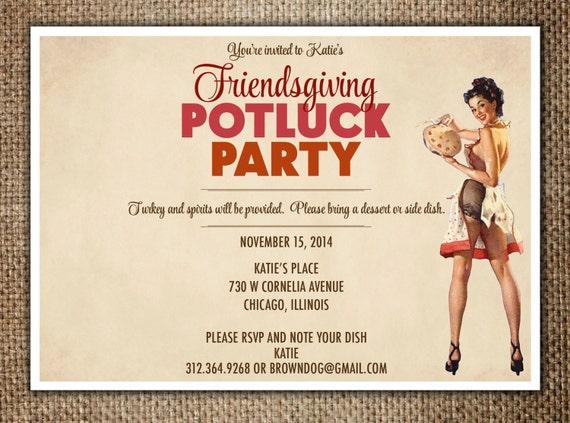 Friendsgiving Invitation for adorable invitation sample
