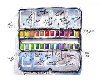 Croydon Paintbox - a print made from my sketchbook drawing