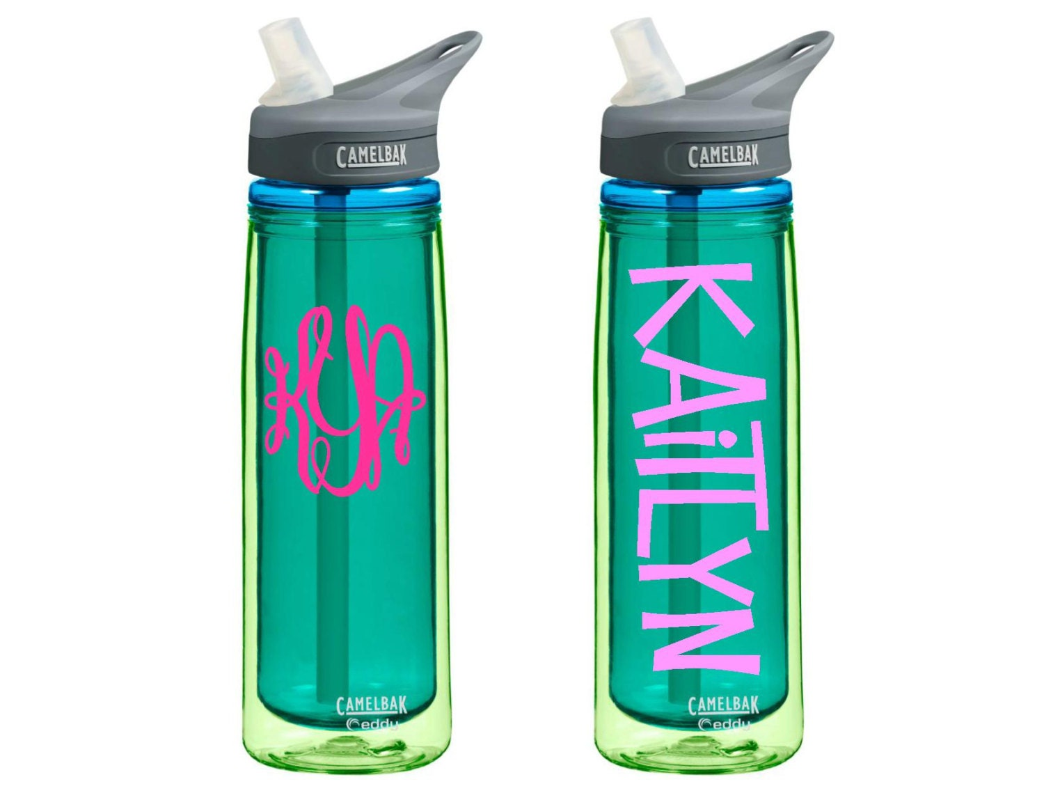 Personalized Insulated Camelbak Eddy Water Bottle 20oz Jade