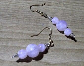 Rose Gold Quartz Earrings