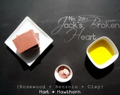 No. 209 Jack's Broken Heart: Natural Rosewood Soap, Kaolin Clay, Shea Butter, Vegan Soap, Palm Free, Rose and Benzoin Soap