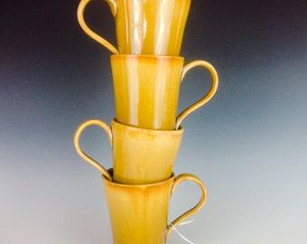 Golden Sunshine Porcelain Cups