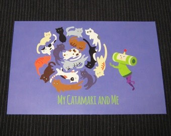 Katamari Damacy 4x6 Postcard - My Catamari and Me