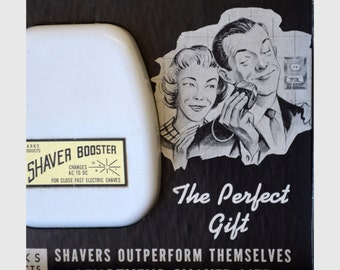 Shaver Booster Parks Products 1963 in Original Box This Device Switches AC to DC to Increase Electric Shaver Power