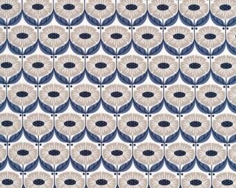 Organic Fabric, WildWood Fabric, Elizabeth Olwen, Full Bloom indigo, Cloud9 Fabrics, Floral Fabric, Organic Cotton, Modern Fabric,