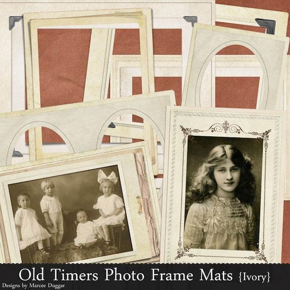 Antique Styled Frames | Digital | Ivory | Vintage Frames