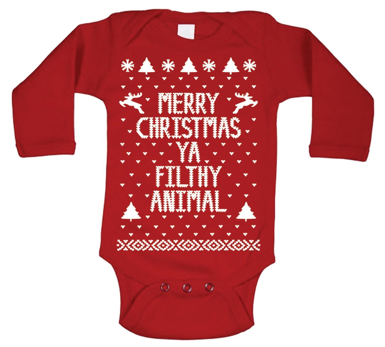 Babies Merry Christmas Ya Filthy Animal By Yafilthyanimalstore