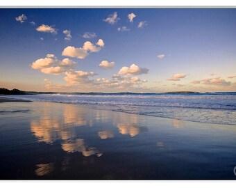Beach Prints, Home decor, Australia Beach Photos, Fine Art photography, Bright Blue Sky Beach photos, Cloud Photography, Sky Photography