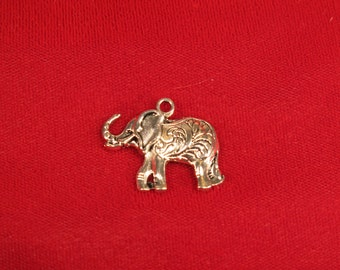 "10pc ""elephant"" charms in antique style silver (BC579)"