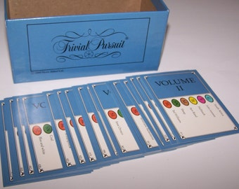 Volume II ~ Trivial Pursuit Cards ~ 50 Pieces ~ Crafts ~ Tags ~ Scrapbooking ~ Replacement ~ Table Decor