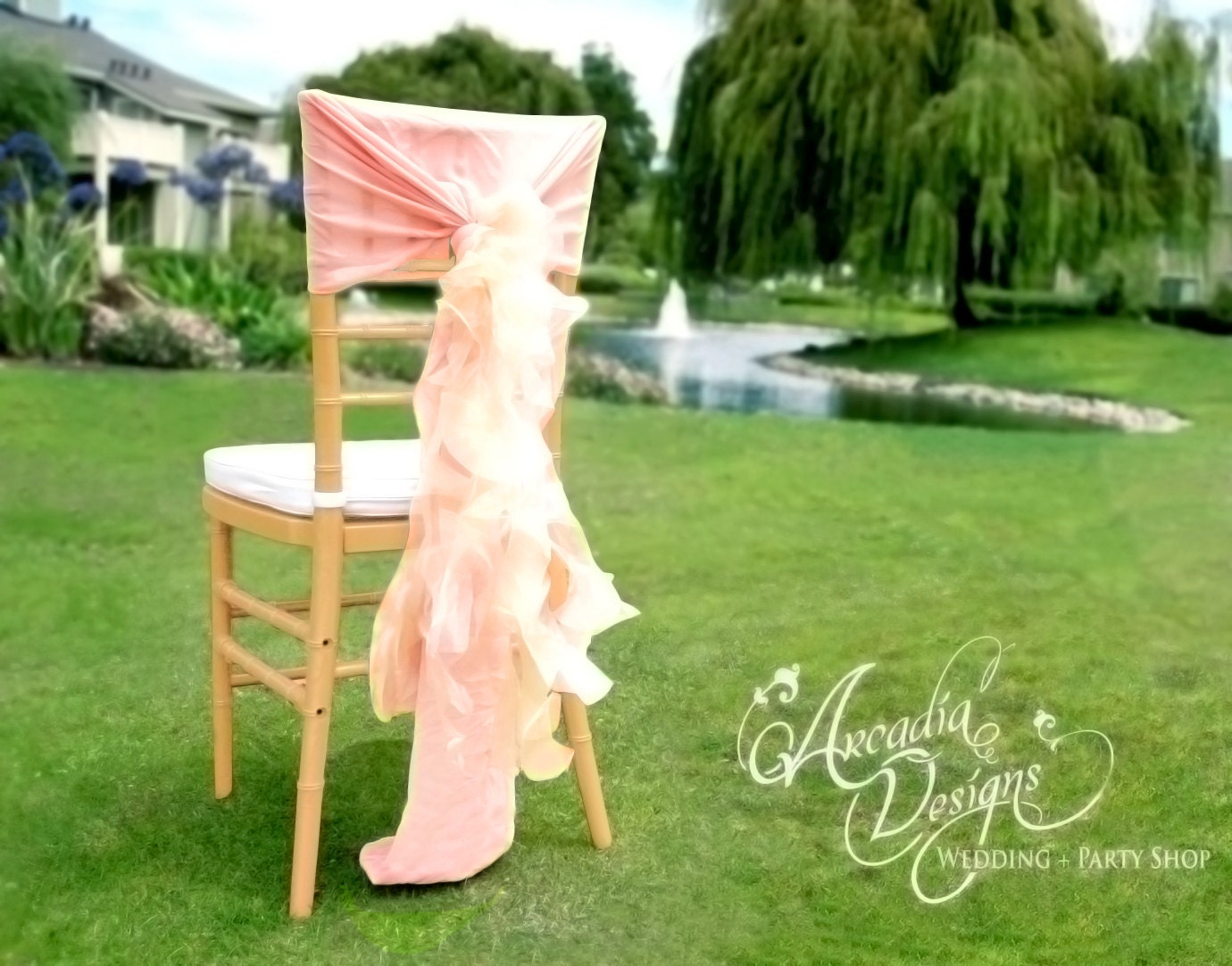 Bridal Ruffled Chair Covers MADE TO ORDER Bride And Groom