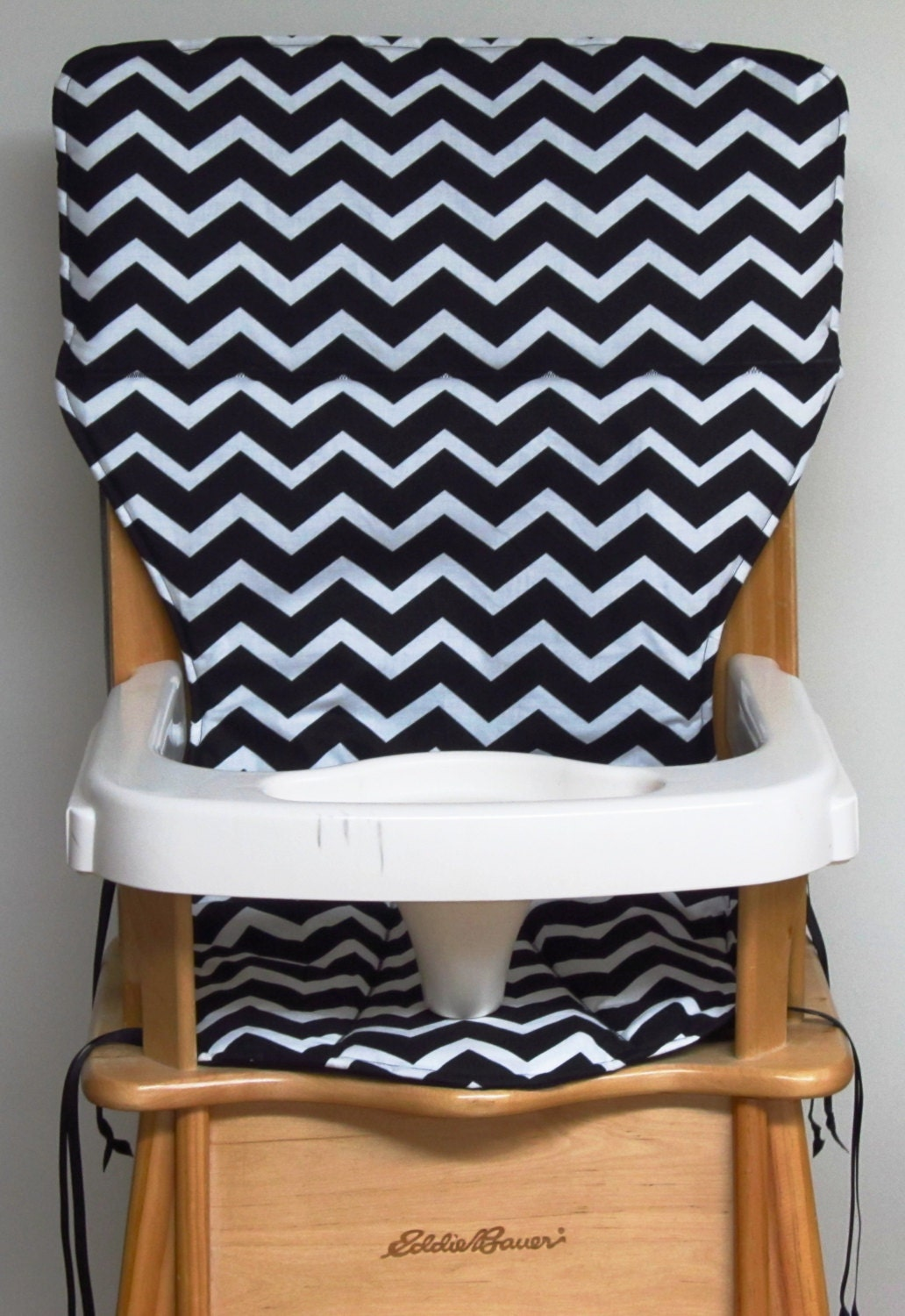eddie bauer wooden high chair pad replacement cover zigzag