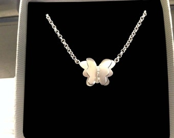Butterfly Necklace - Butterfly Silver Necklace - Butterfly Pendant for her