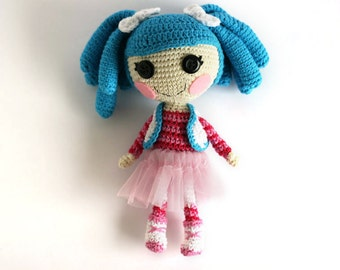 Crochet doll Lalaloopsy Mittens Fluff n Stuff, Christmas gift, Stocking stuffer