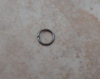 6mm Nickel Free Iron Jump Rings, Close but Unsoldered Black Color (i165)