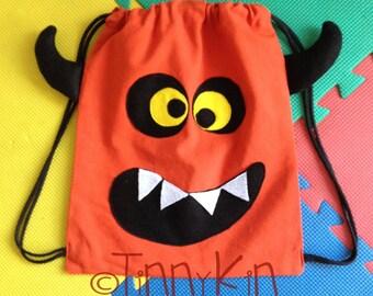 monster bag, halloween bag, trick or treat bag,