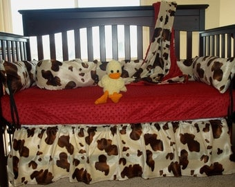 Brown Cow Western Crib Bedding Set
