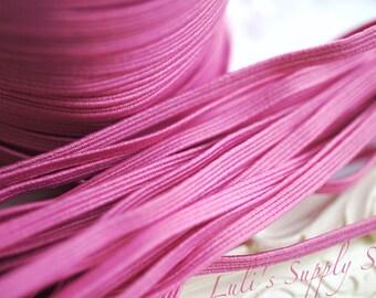 5 Yards Rosy Mauve Skinny Elastic 1/8 inch Elastic - Rosy Mauve Skinny Elastic - Elastic by the yard - Thin Elastic - DIY - Headbands