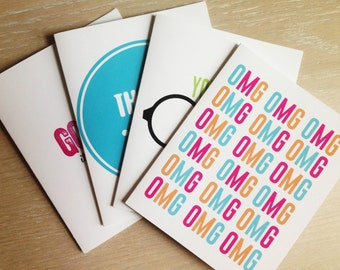 Greeting card sampler \\ 1 of each card
