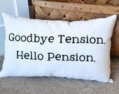 Canvas Pillow, Home Decor, Retirement Gift, Parent's Gift, Pillow, Throw Pillow, Grandparents, Pillows, Parent Retiring, Co-Worker Retiring