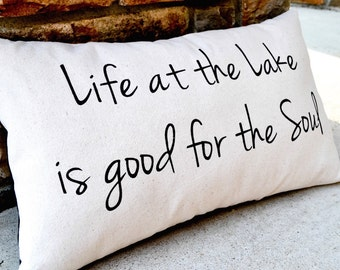 Lake House Decor, Pillows with Words, Gift for Parents, Farmhouse Pillow, Rustic Cabin Decor, Rustic Chic Decor,  Decorative Pillow Couch