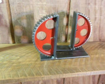 Industrial Gear Bookends Custom  Color One Bookend
