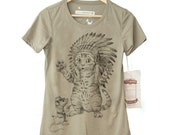 Cat Shirt - Indian HeadDress. Cat and Mouse Womens Shirt in sizes Small-XXL