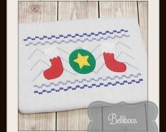 Christmas Faux Smock - Christmas Embroidery Design - Holiday Faux Smock - Holiday Embroidery Design - Christmas Smocking - Embroidery Design