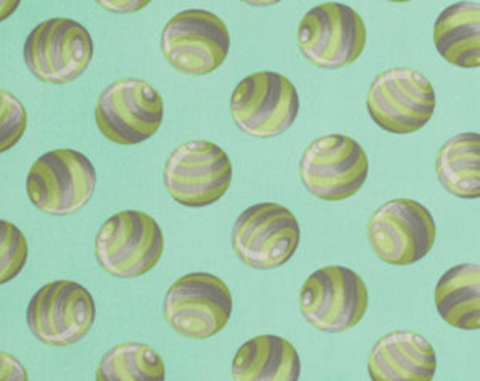 Bumble Dot in Jade - Tula Pink - Free Spirit - Cotton Woven Fabric