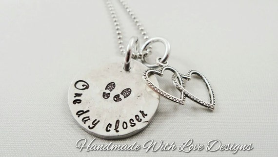 One Day Closer Hand Stamped Necklace