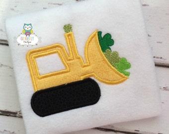 Shamrock Dozer St Patricks Day Shirt or Bodysuit, St Patricks Day Shirt, St Patty's Day Shirt, Boy Shamrock Shirt, Boy St Patricks Shirt