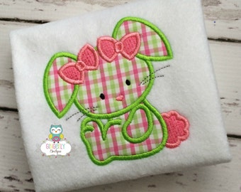 Girl Easter Bunny with Bows Shirt or Bodysuit, Girl Bunny Shirt, Girl Easter Bunny Shirt, Girl Easter Shirt, Girl Easter Egg Hunt Shirt