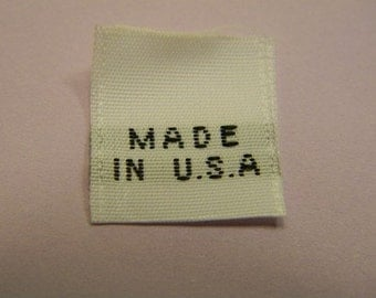 "50 Clothing Label ""MADE IN USA"" Woven Labels"