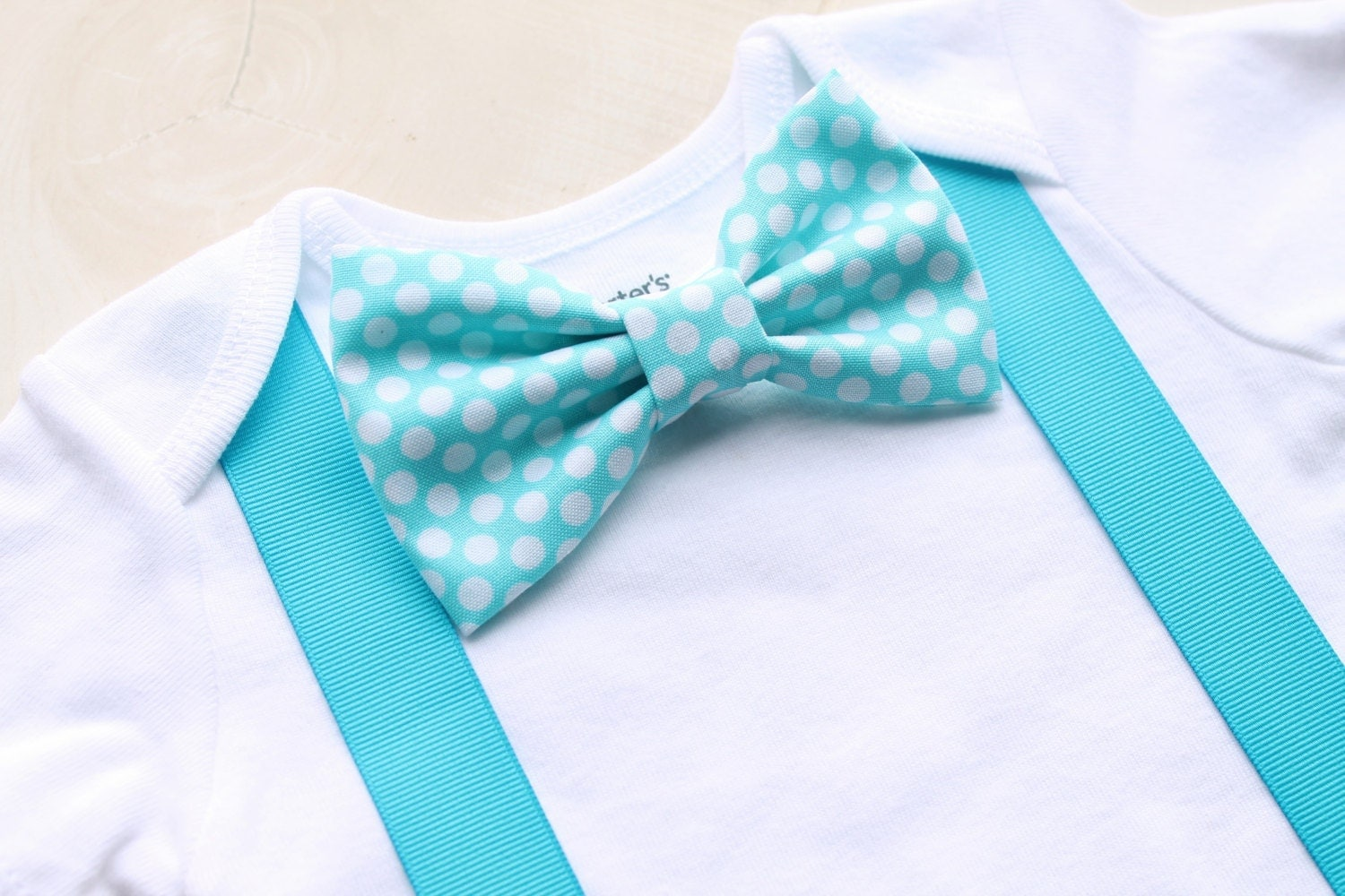 baby boy baby bow tie and suspenders by
