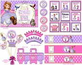Sofia the first party kit sofia the first birthday set  Sophia the first party Sophia the first birthday printable