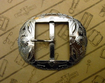 """No.1003 1930's Reproduction Buckle 1 1/2"""" for Studded Jeweled Western Belt"""